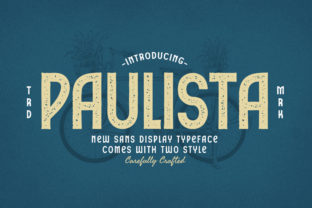 Print on Demand: Paulista Display Font By typotopia