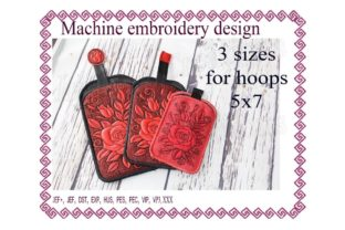 Phone Case Accessories Embroidery Design By ImilovaCreations