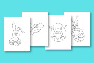 Print on Demand: Rabbit Coloring Pages for Kids Graphic Coloring Pages & Books Kids By khan.swadhin 2
