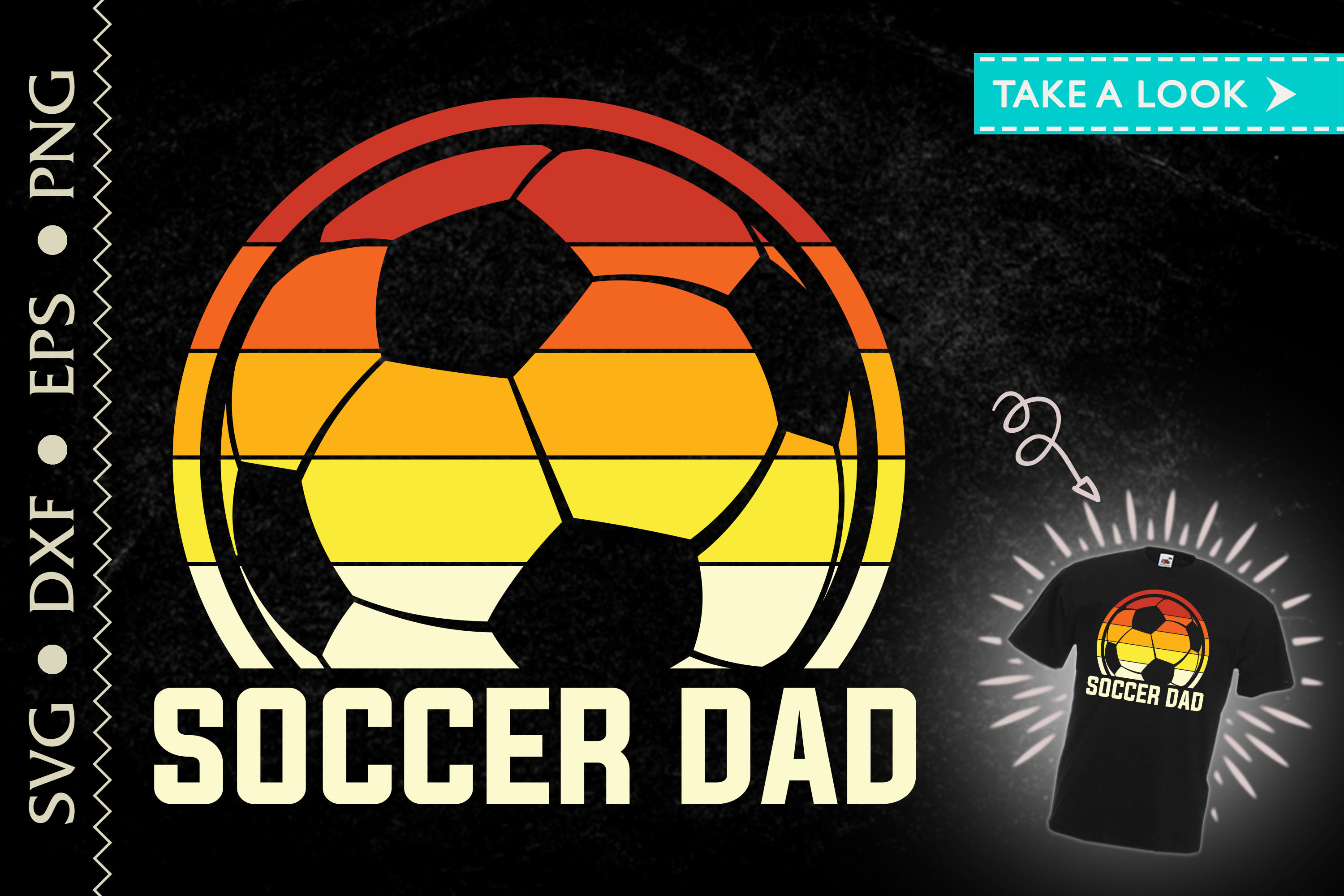 Soccer Dad Father's Day Gift Dad Gift SVG File