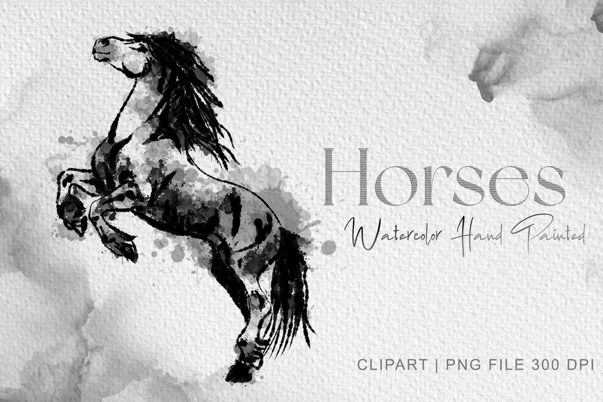 Standing Horse Clipart Watercolor Horse SVG File
