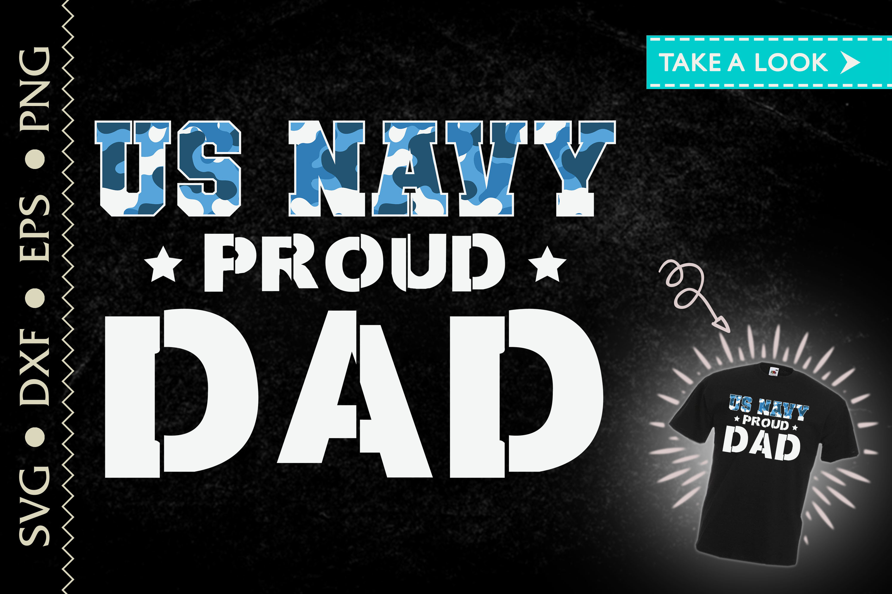 US Navy Proud Dad Father's Day Gift SVG File