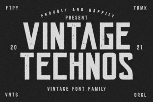 Print on Demand: Vintage Technos Display Font By fontherapy