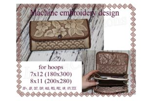 Wallet in the Hoop Sewing & Crafts Embroidery Design By ImilovaCreations