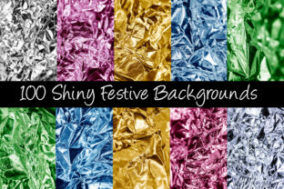 Print on Demand: 100 Shiny Foil Backgrounds Graphic Abstract By squeebcreative 1
