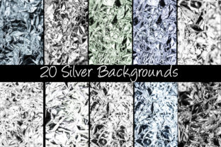 Print on Demand: 100 Shiny Foil Backgrounds Graphic Abstract By squeebcreative 2