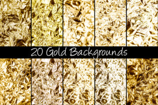 Print on Demand: 100 Shiny Foil Backgrounds Graphic Abstract By squeebcreative 6