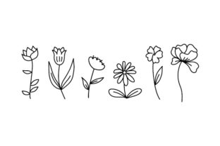 Floral Digital Stamps Nature & Outdoors Craft Cut File By Creative Fabrica Crafts