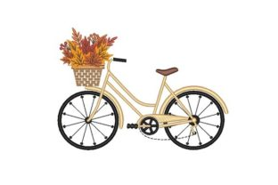 Autumn Bicycle Autumn Embroidery Design By NinoEmbroidery
