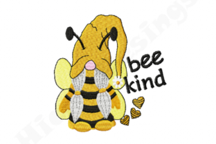 Print on Demand: Bee Kind Gnome Babies & Kids Embroidery Design By HicretDesings