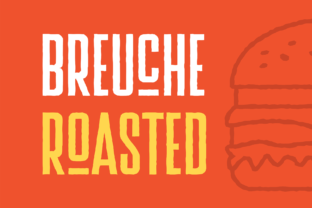 Print on Demand: Breuche Roasted Display Font By adilbudianto