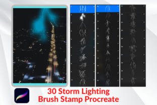 Brush Stamp Procreate 30 Bolt Graphic Brushes By 2515 Design