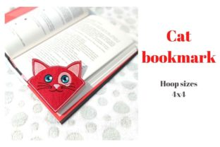 Cat Corner Bookmark Cats Embroidery Design By Garden of designs