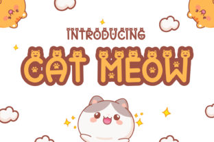 Print on Demand: Cat Meow Decorative Font By OKEVECTOR