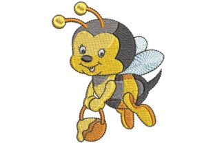 Cute Honey Bee Bugs & Insects Embroidery Design By BabyNucci Embroidery Designs
