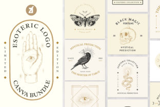 Esoteric Hand-drawn Logo Template Graphic Logos By Chanut is watercolor