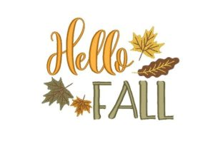 Fall Autumn Embroidery Design By NinoEmbroidery