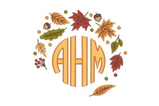 Fall Monogram Autumn Embroidery Design By NinoEmbroidery