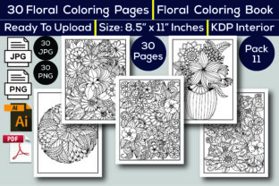 Print on Demand: Floral Coloring Book KDP Interior Graphic Coloring Pages & Books Adults By KDP Interior 24 1