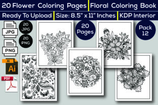 Print on Demand: Flower Coloring Book KDP Interior Graphic Coloring Pages & Books Kids By KDP Interior 24
