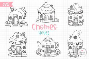 Print on Demand: Gnomes House SVG, Fairy Garden SVG Graphic Illustrations By Chonnieartwork