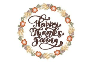 Happy Thanksgiving Autumn Embroidery Design By NinoEmbroidery