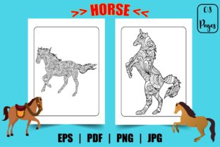 Horse Coloring Page for Adults Graphic Graphic Coloring Pages & Books Adults By Design Point