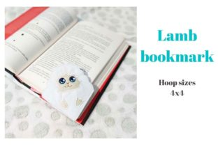 Lamb Corner Bookmark Easter Embroidery Design By Garden of designs