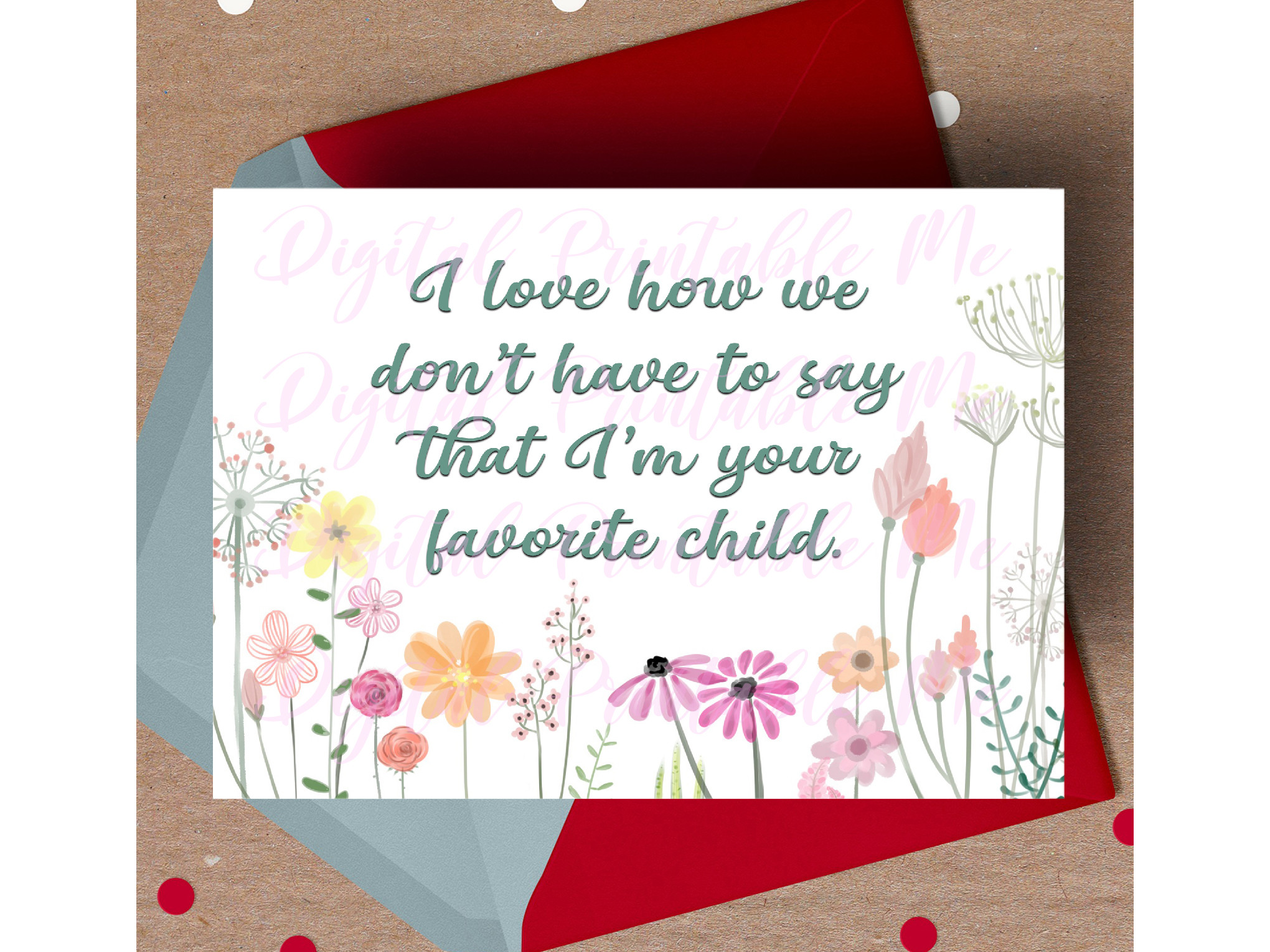 Mother's Day Card, Funny Mom Printable, SVG File