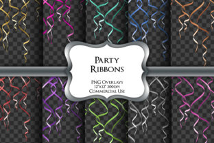 Print on Demand: Party Ribbons Overlays Transparent PNG Graphic Illustrations By Party Pixelz