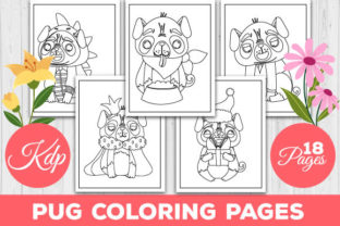 Print on Demand: Pug Coloring Pages Graphic Coloring Pages & Books Kids By TrendColors
