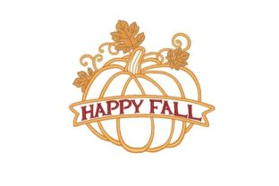 Pumpkin Autumn Embroidery Design By NinoEmbroidery