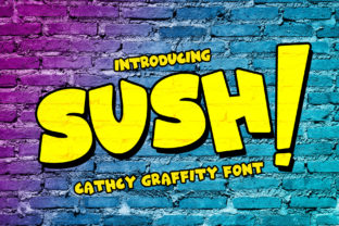Print on Demand: Sush! Display Font By tinyhandletter 1