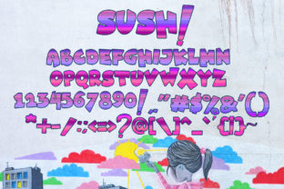 Print on Demand: Sush! Display Font By tinyhandletter 7