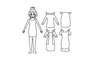 Kawaii-style Paper Doll Kits & Sets Craft Cut File By Creative Fabrica Crafts 2