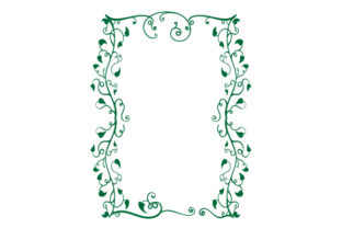 Vine Border Card Template Designs & Drawings Craft Cut File By Creative Fabrica Crafts