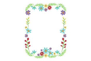Floral Border Card Template Designs & Drawings Craft Cut File By Creative Fabrica Crafts 1