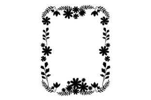 Floral Border Card Template Designs & Drawings Craft Cut File By Creative Fabrica Crafts 2