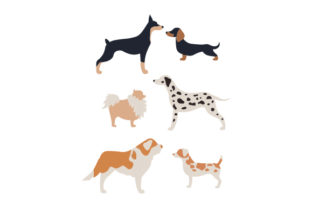 Two-tone Dogs Dogs Craft Cut File By Creative Fabrica Crafts 1