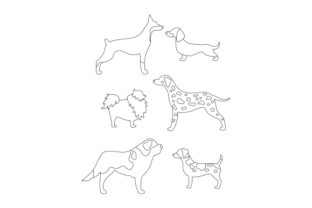Two-tone Dogs Dogs Craft Cut File By Creative Fabrica Crafts 2