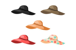 Floppy Beach Hats Designs & Drawings Craft Cut File By Creative Fabrica Crafts 1