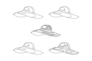 Floppy Beach Hats Designs & Drawings Craft Cut File By Creative Fabrica Crafts 2