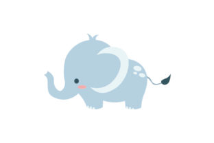 Baby Elephant Animals Craft Cut File By Creative Fabrica Crafts 1