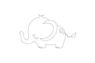 Baby Elephant Animals Craft Cut File By Creative Fabrica Crafts 2