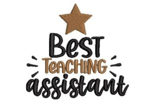 Best Teaching Assistant School & Education Embroidery Design By Embroidery Designs