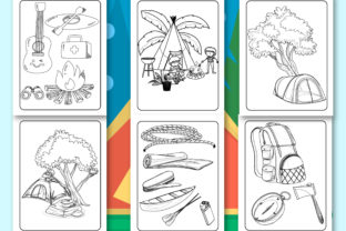 Print on Demand: Camping Coloring Book for Kids Graphic Coloring Pages & Books Kids By Tixxor-Global