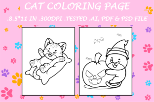 Cat Coloring Page 3 - Kdp Interiors Graphic Coloring Pages & Books Kids By Kdp Speed