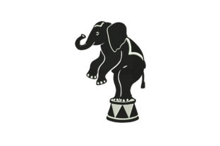 Elephant Machine Circus & Clowns Embroidery Design By DigitEMB