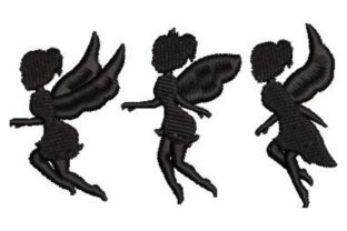 Fairy Silhouettes Fairy Tales Embroidery Design By Embroidery Designs