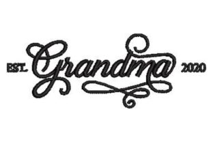 Grandma Grandparents Embroidery Design By Embroidery Designs